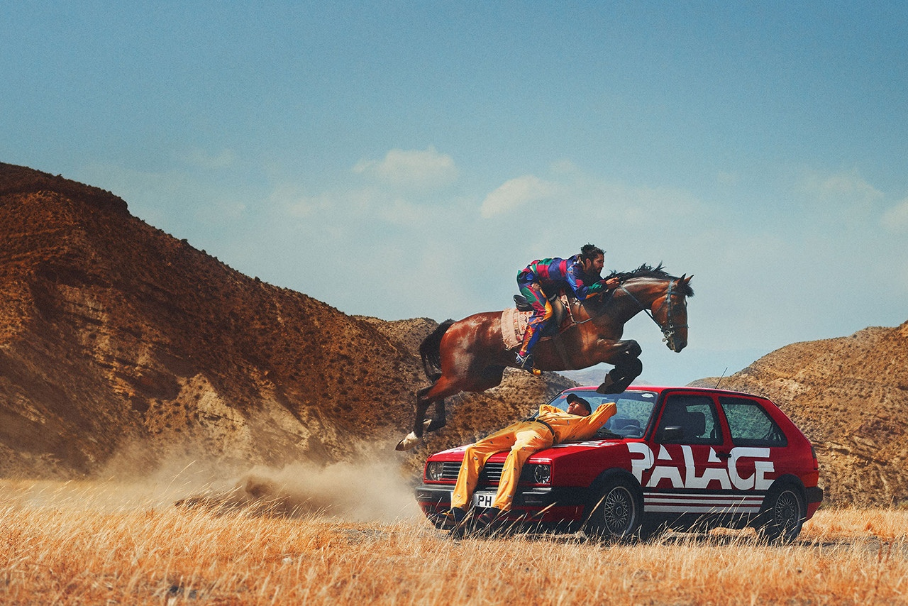 Кадр изрекламной кампании Palace x Polo Ralph Lauren