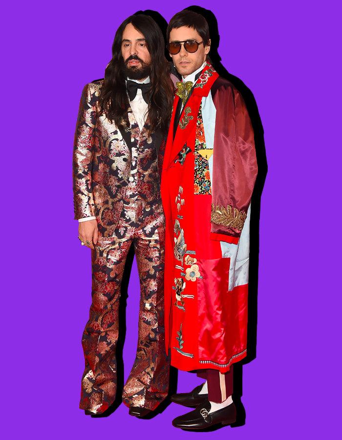 Алессандро Микеле иДжаред Лето нацеремонии вручения премии British Fashion Awards, декабрь 2016