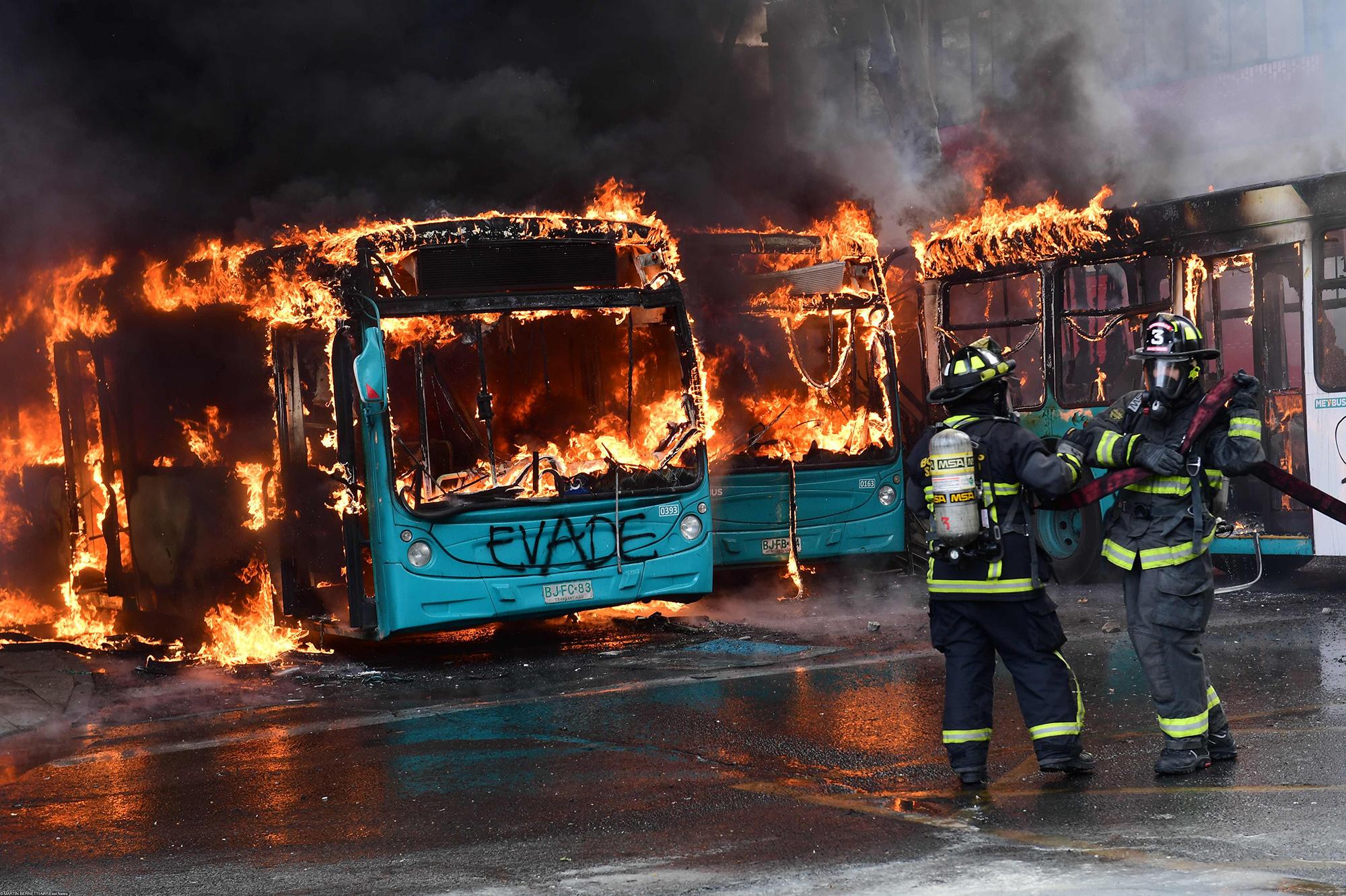Сожженные автобусы