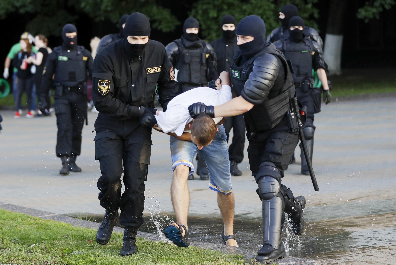 Протесты вМинске 10 августа