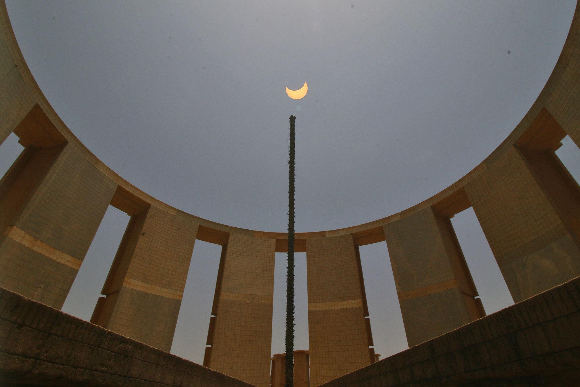 Вид изобсерватории Джантар-Мантар вДжайпуре, Индия