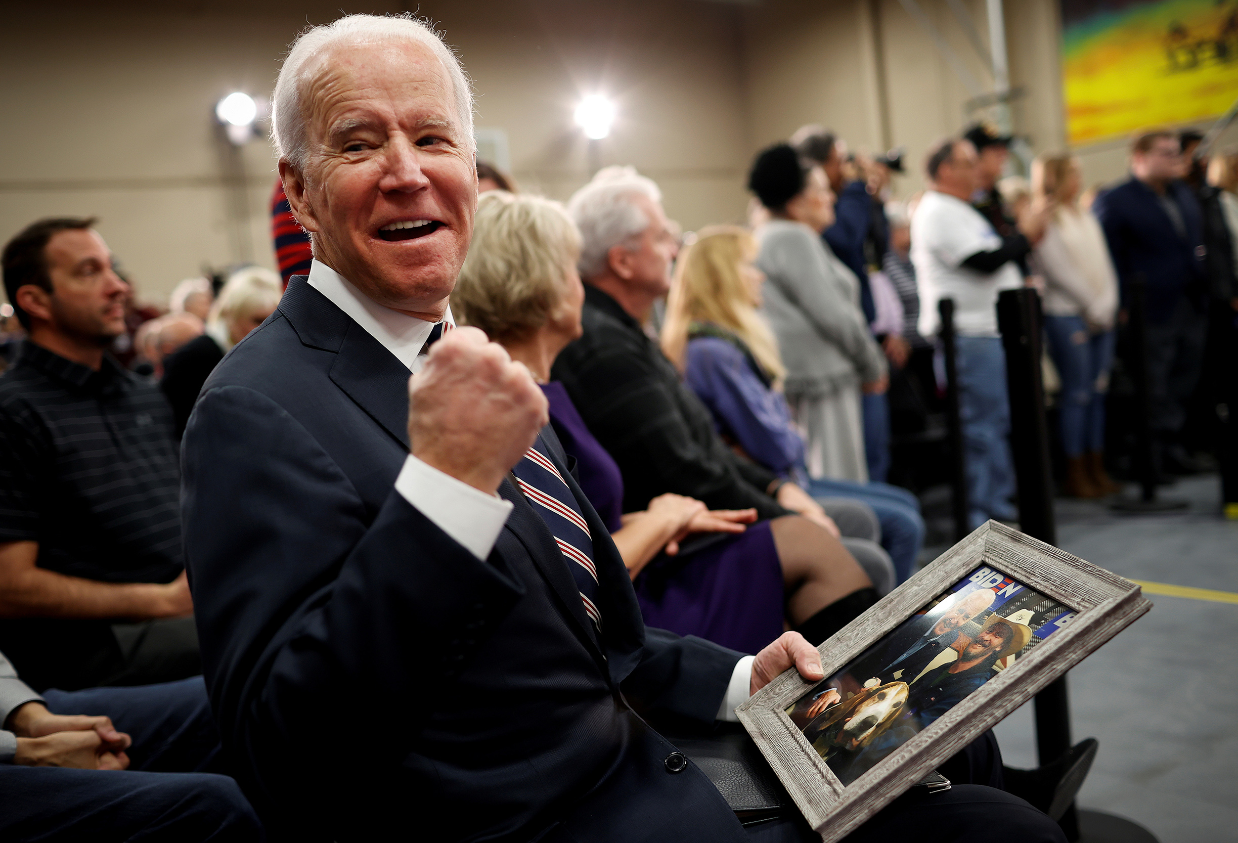 DATE IMPORTED:January 30, 2020Democratic 2020 U.S. presidential candidate and former Vice President Joe Biden gestures as he sits after speaking during a campaign event in Waukee, Iowa, U.S., January 30, 2020. Mike Segar /REUTERS