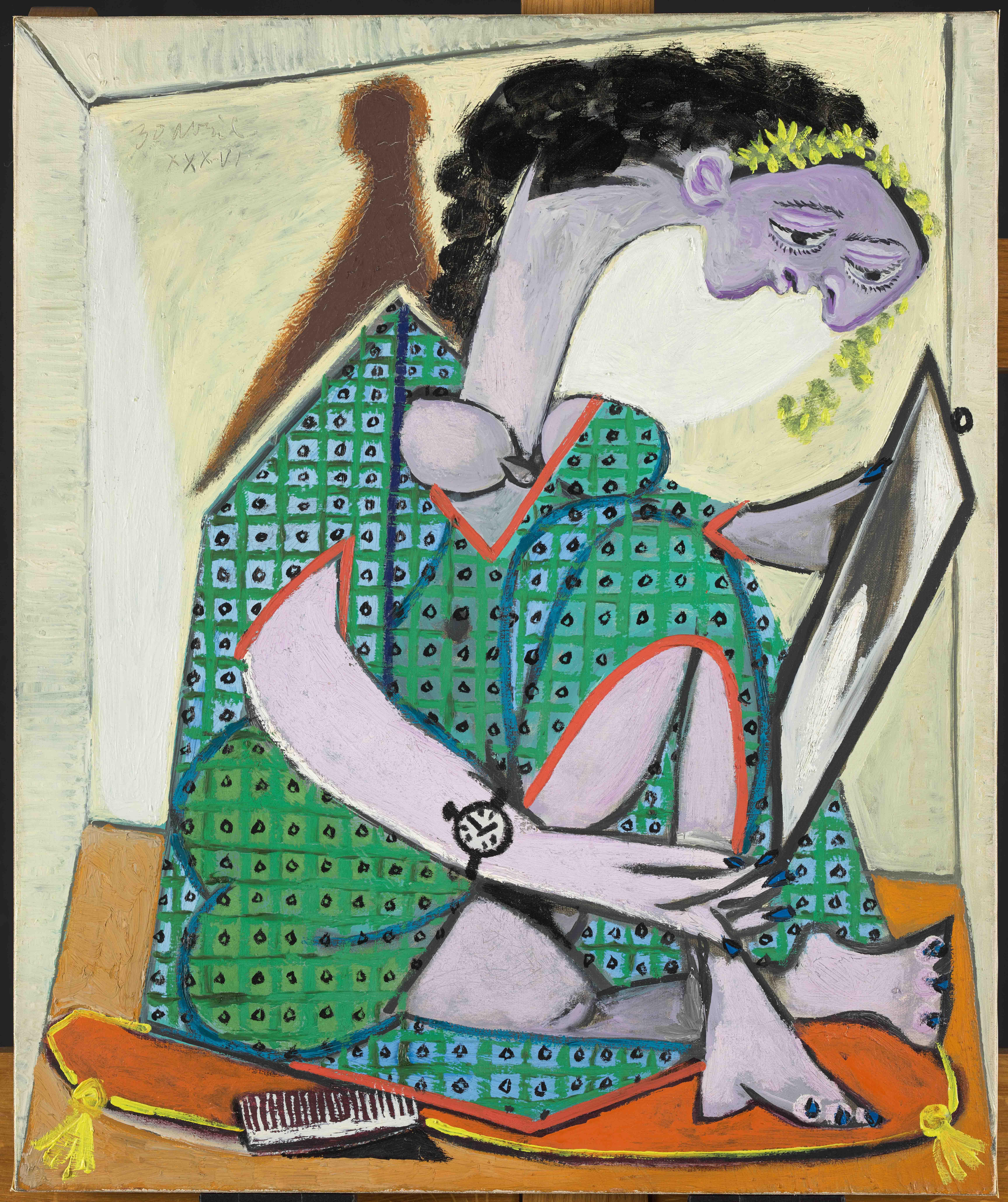 Пабло Пикассо. Женщина счасами. Жуан-ле-Пен, 30 апреля 1936. Национальный музей Пикассо, Париж
