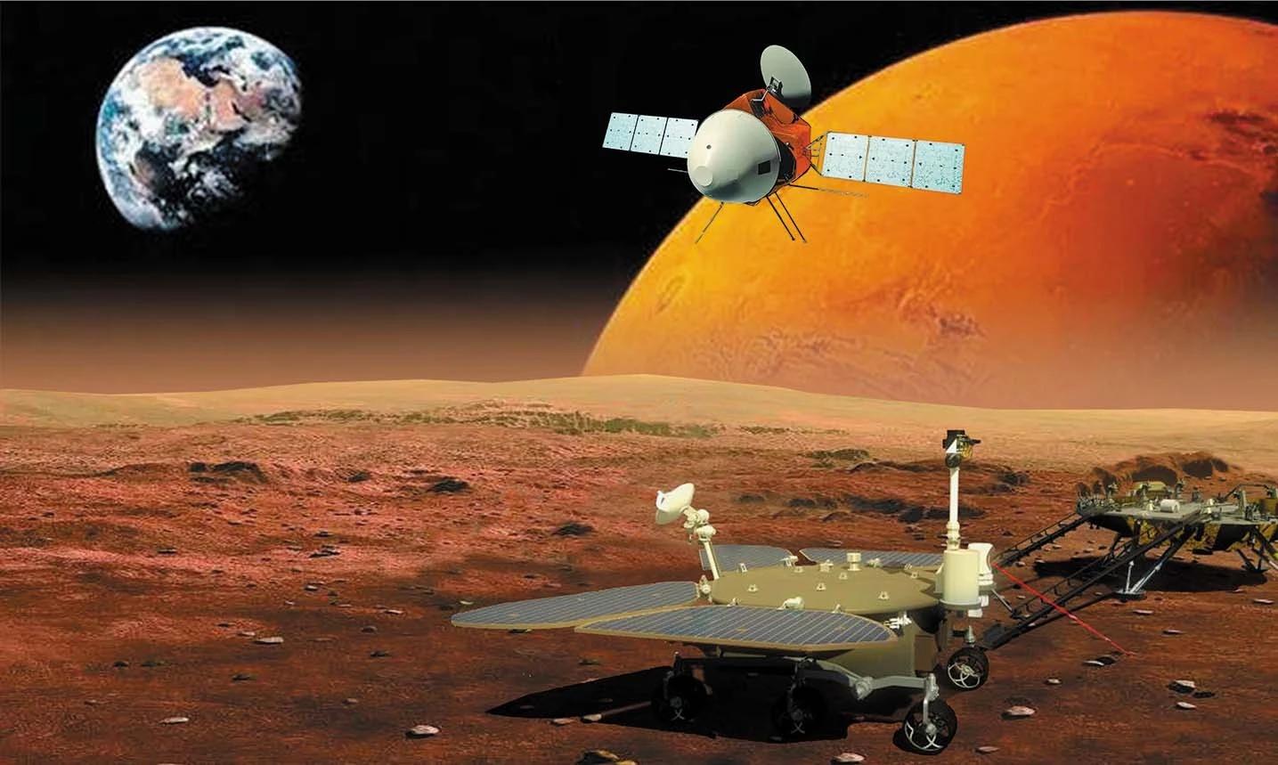 Зонд Таньвэнь-1 смарсоходом