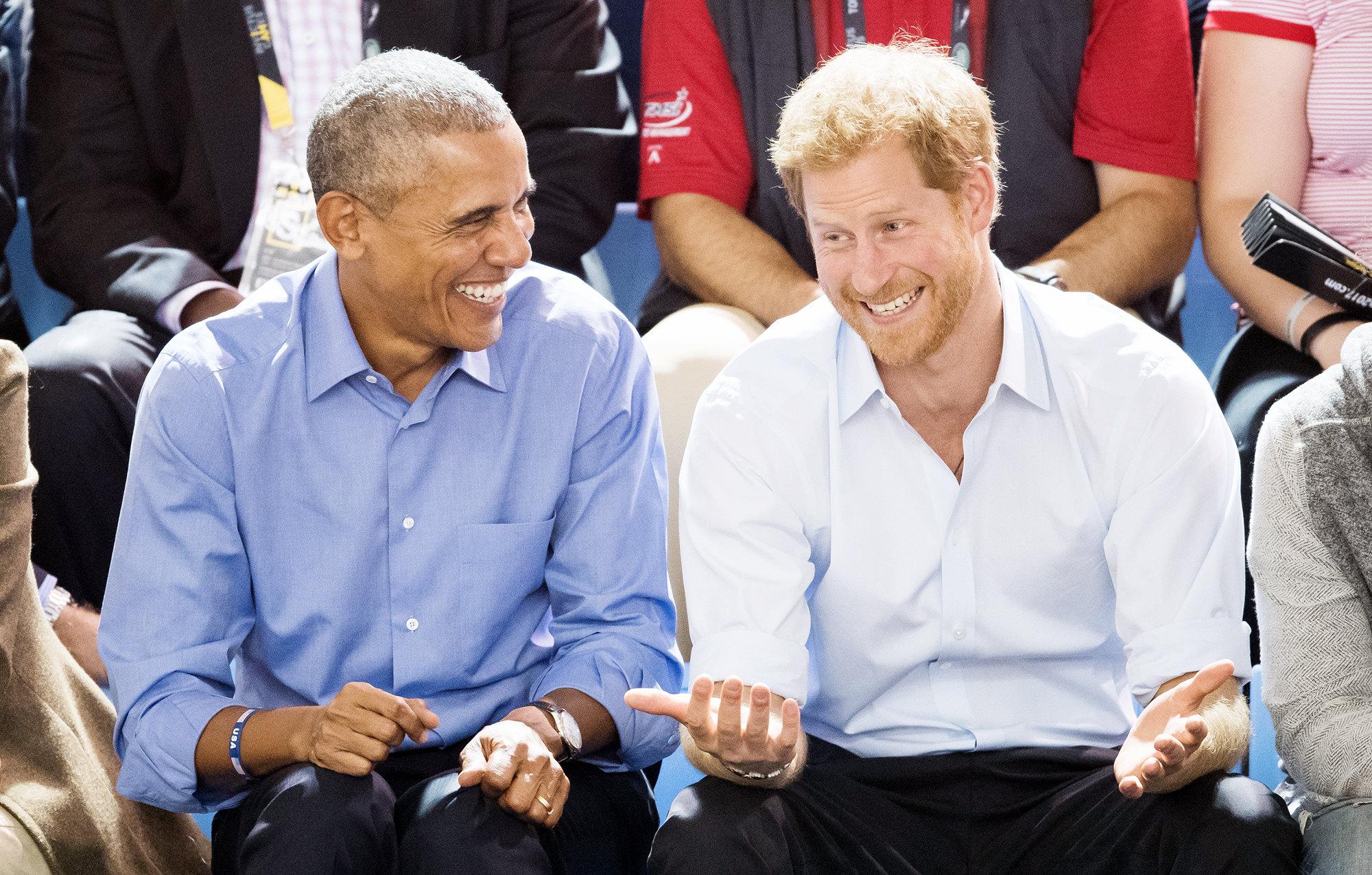Барак Обама ипринц Гарри
