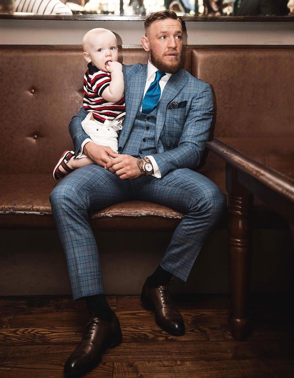 С сыном Конором-Младшим