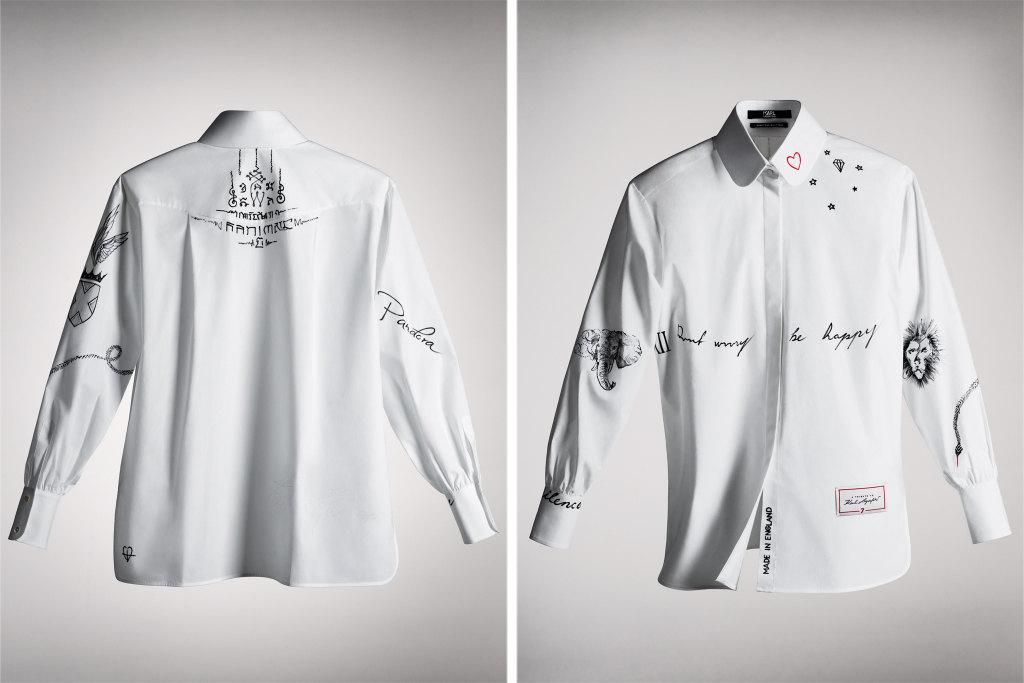 Рубашка авторства Кары Делевинь
