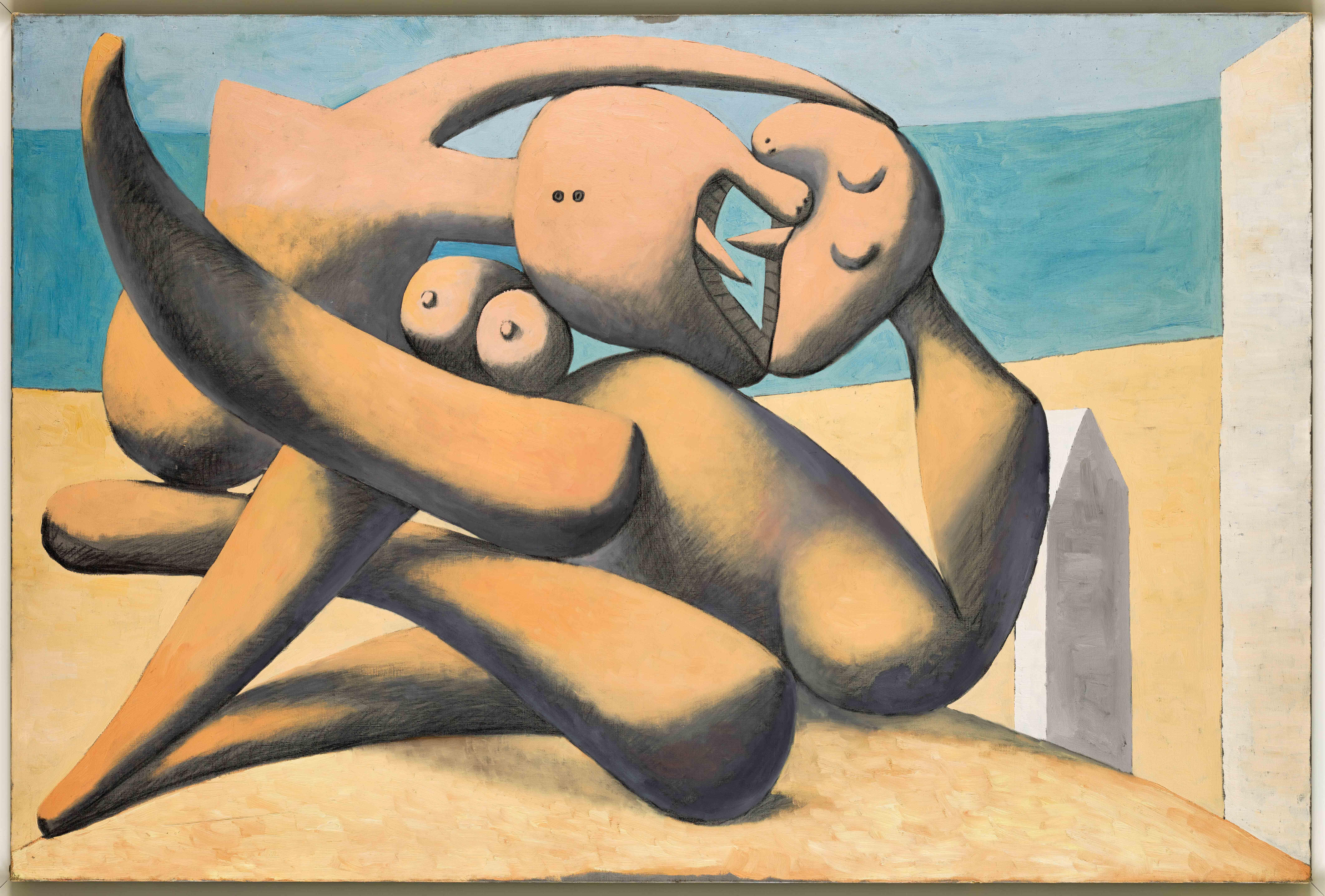 Пабло Пикассо. Фигуры наберегу моря. 12 января 1931. Национальный музей Пикассо, Париж