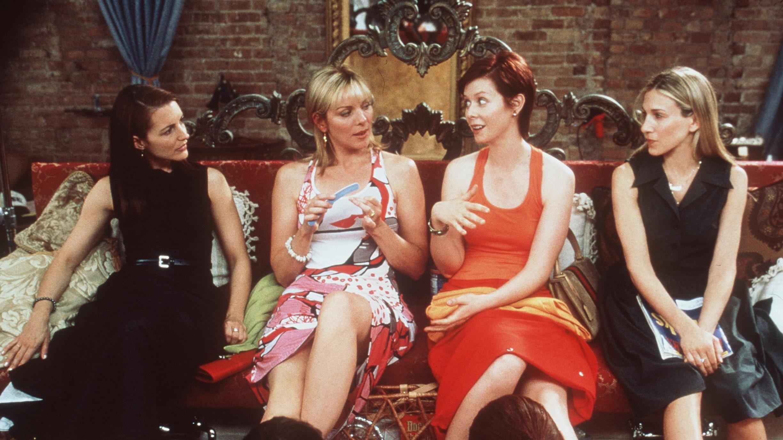 Главные героини «Секса вбольшом городе», слева направо: Шарлотта Йорк, Саманта Джонс, Миранда Хоббс иКэрри Брэдшоу