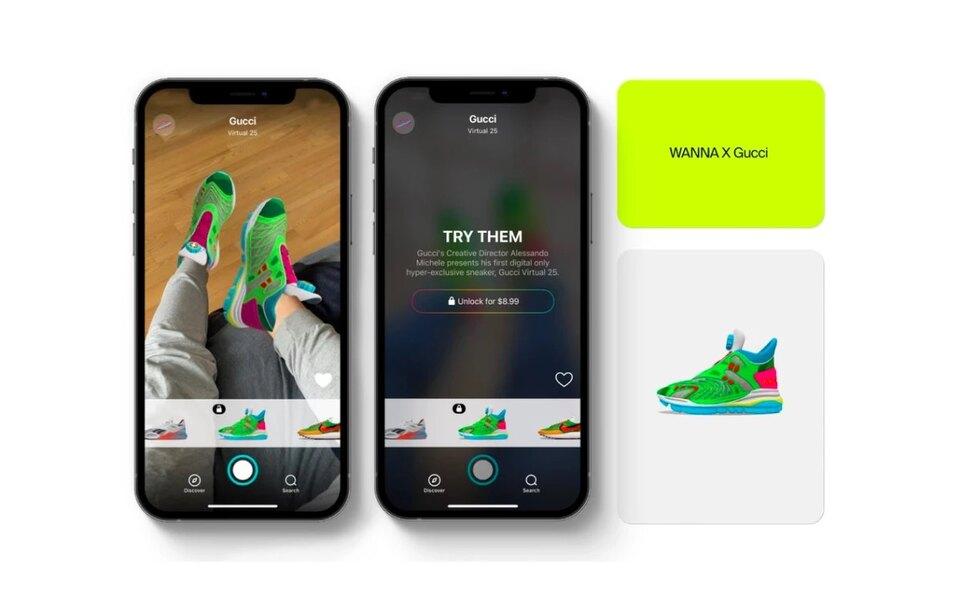 Виртуальная примерка кроссовок Gucci