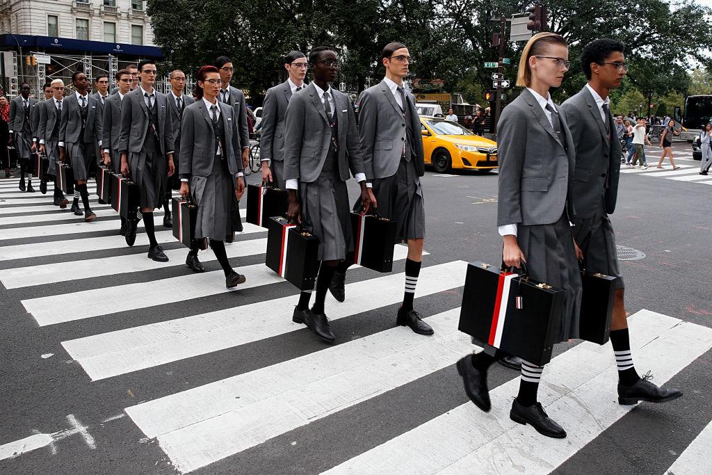 Перформанс Thom Browne вНью-Йорке