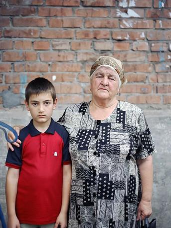 Георгий Гулдаев, 9 лет. Кира Гулдаева, 65 лет