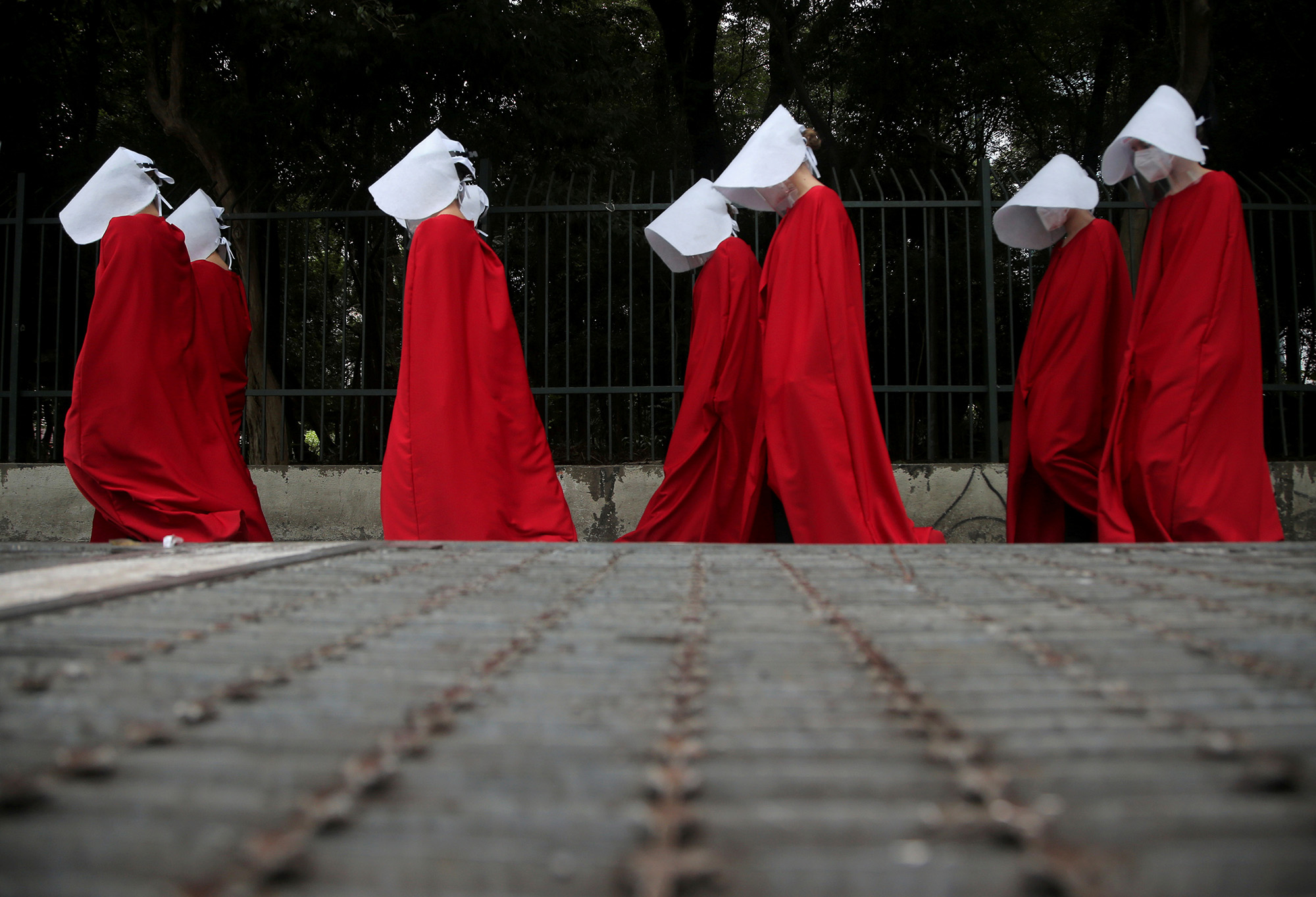 Женский марш вСан-Паулу, Бразилия.