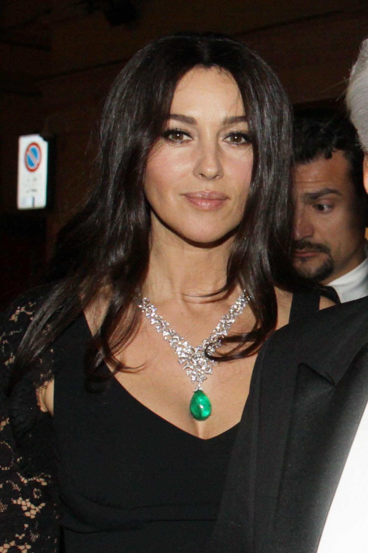 Моника Беллуччи наоткрытии бутика Cartier в2012 году