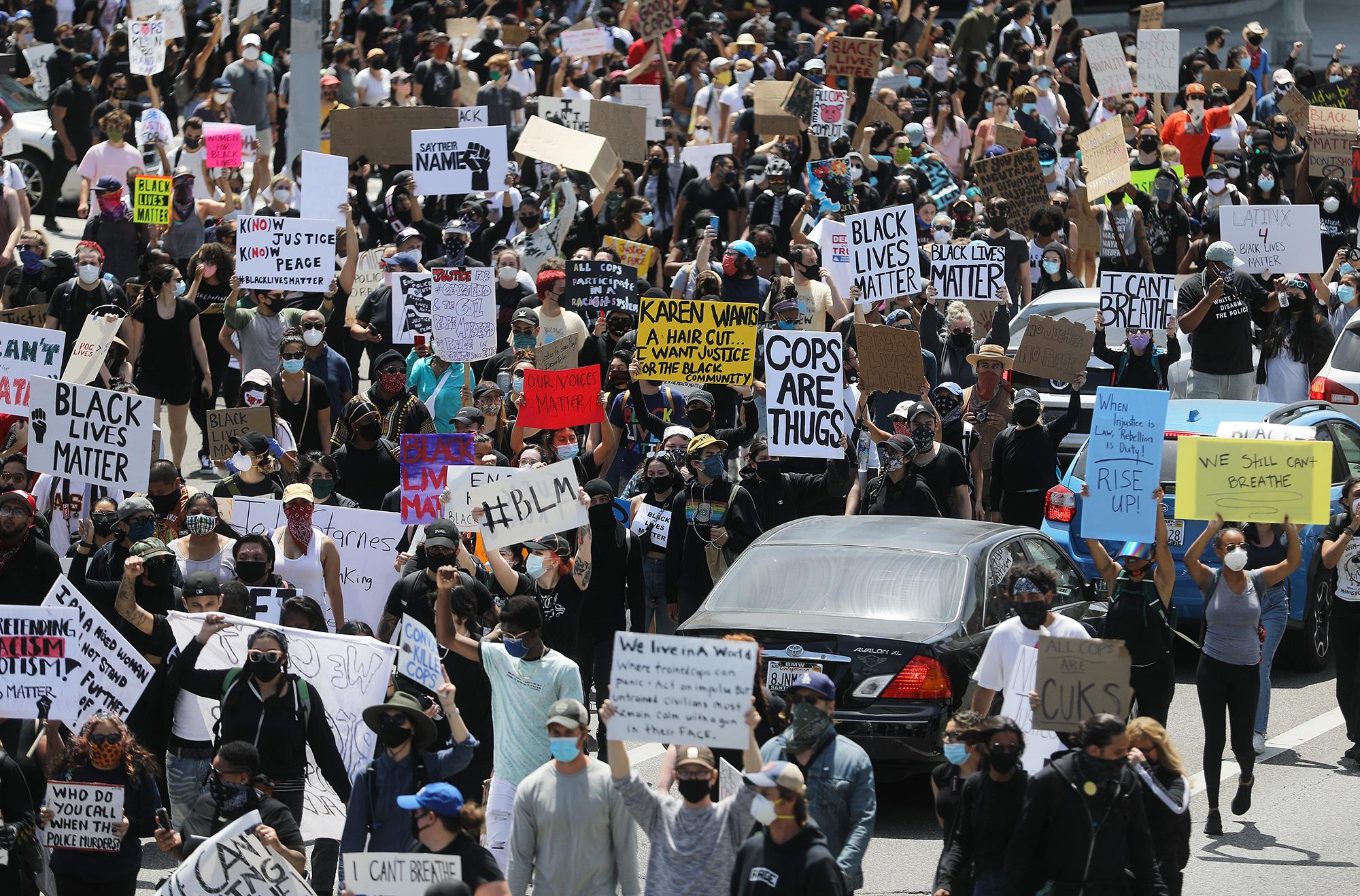Протест #BlackLivesMatter вЛос-Анджелесе, 30 мая
