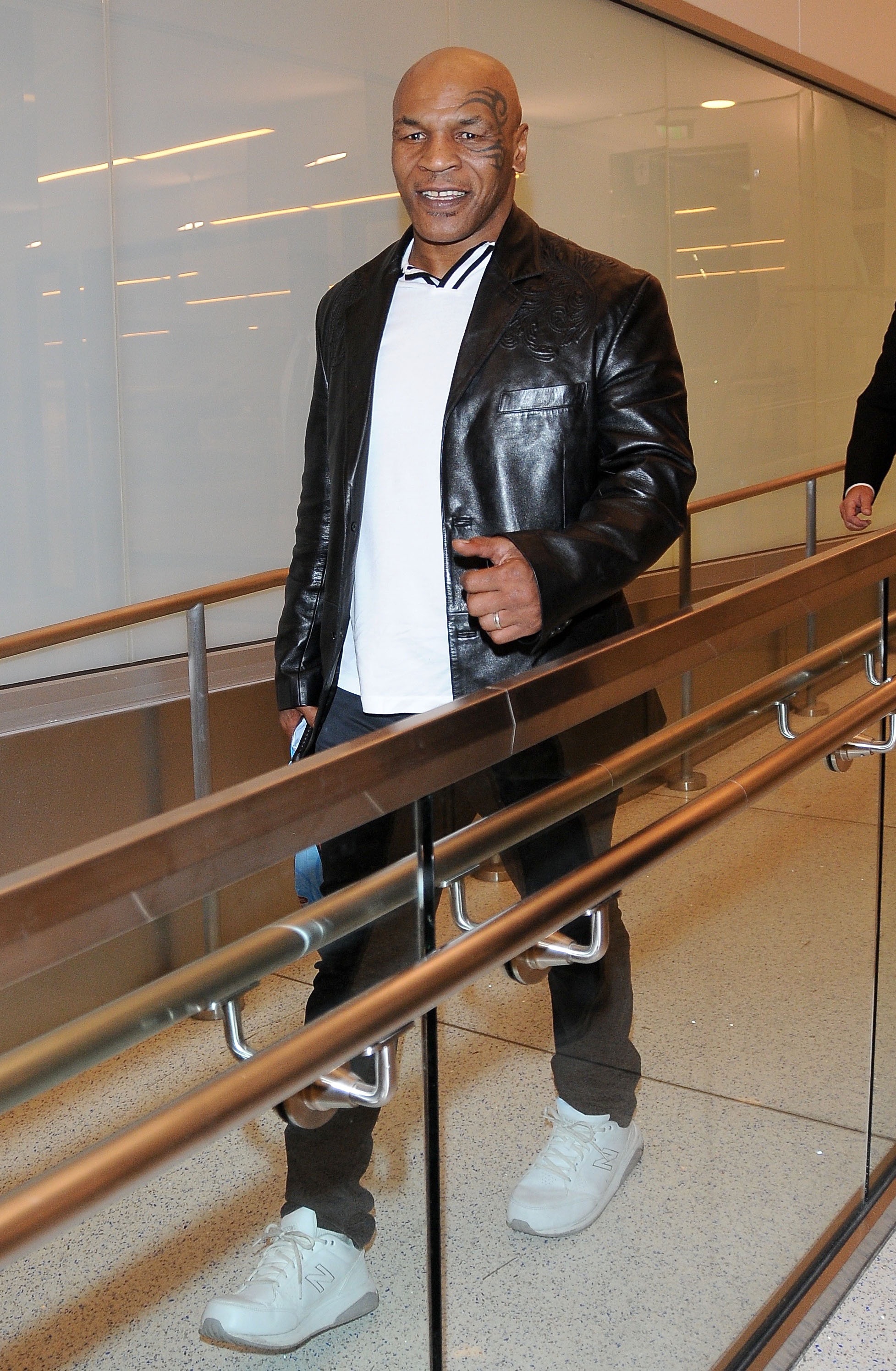 Former Boxing Superstar Mike Tyson Was Seen Departing From LAX In Los Angeles, California On February 22, 2016. Backgrid 4 hours