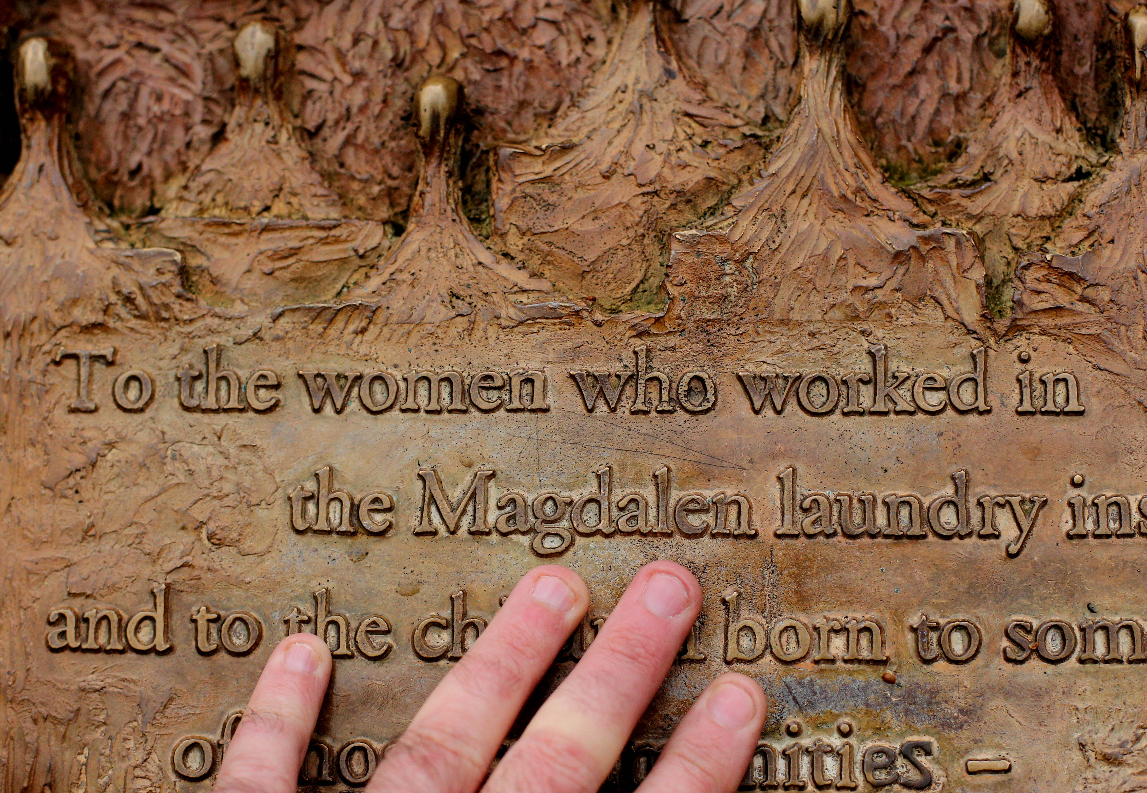 A general view of a plaque dedicated to Magdalane Laundry survivors in St Stephens Green in Dublin. (Photo by Niall Carson/PA Images via Getty Images)