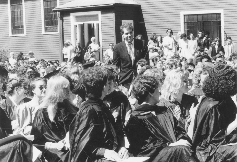 Брет Истон Эллис навыпускном вБеннингтоне, 1986 год.