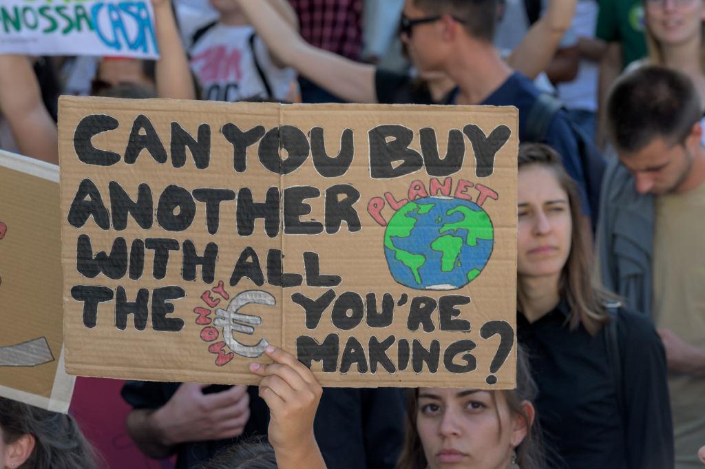 Митинг против изменений климата, Лиссабон, Португалия, сентябрь 2019