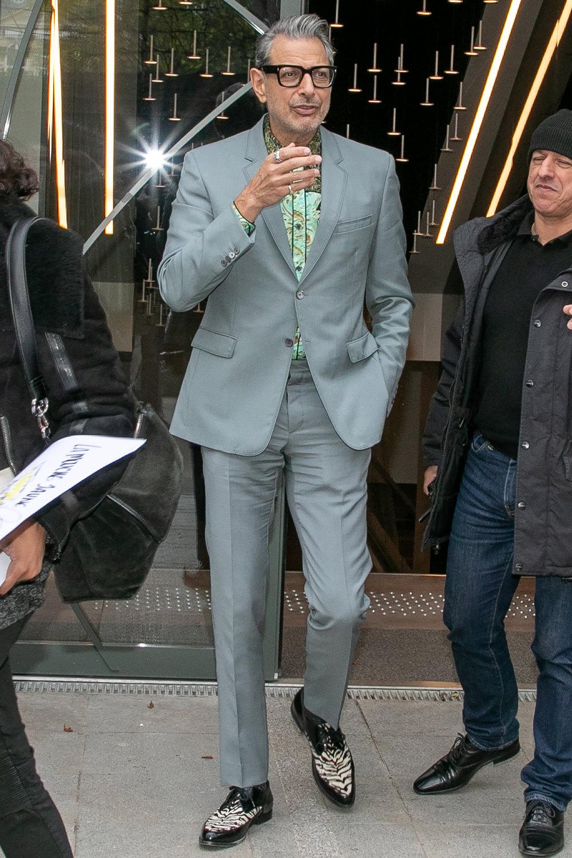 Джефф Голдблюм после съемок телешоу Vivement Dimanche вПариже