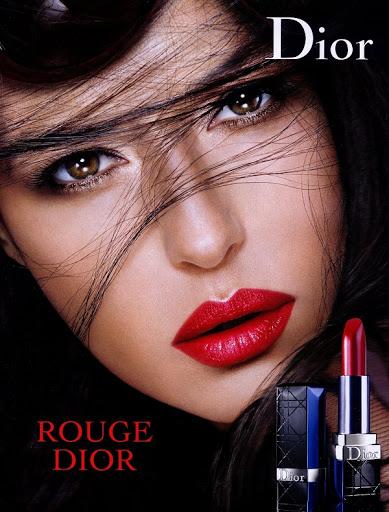 Вариации кампании Rouge Dior сМоникой Беллуччи разных лет