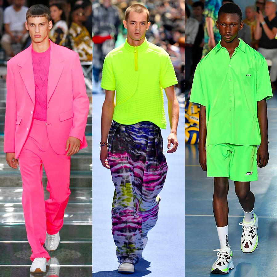 Versace, Louis Vuitton, MSGM весна-лето 2019