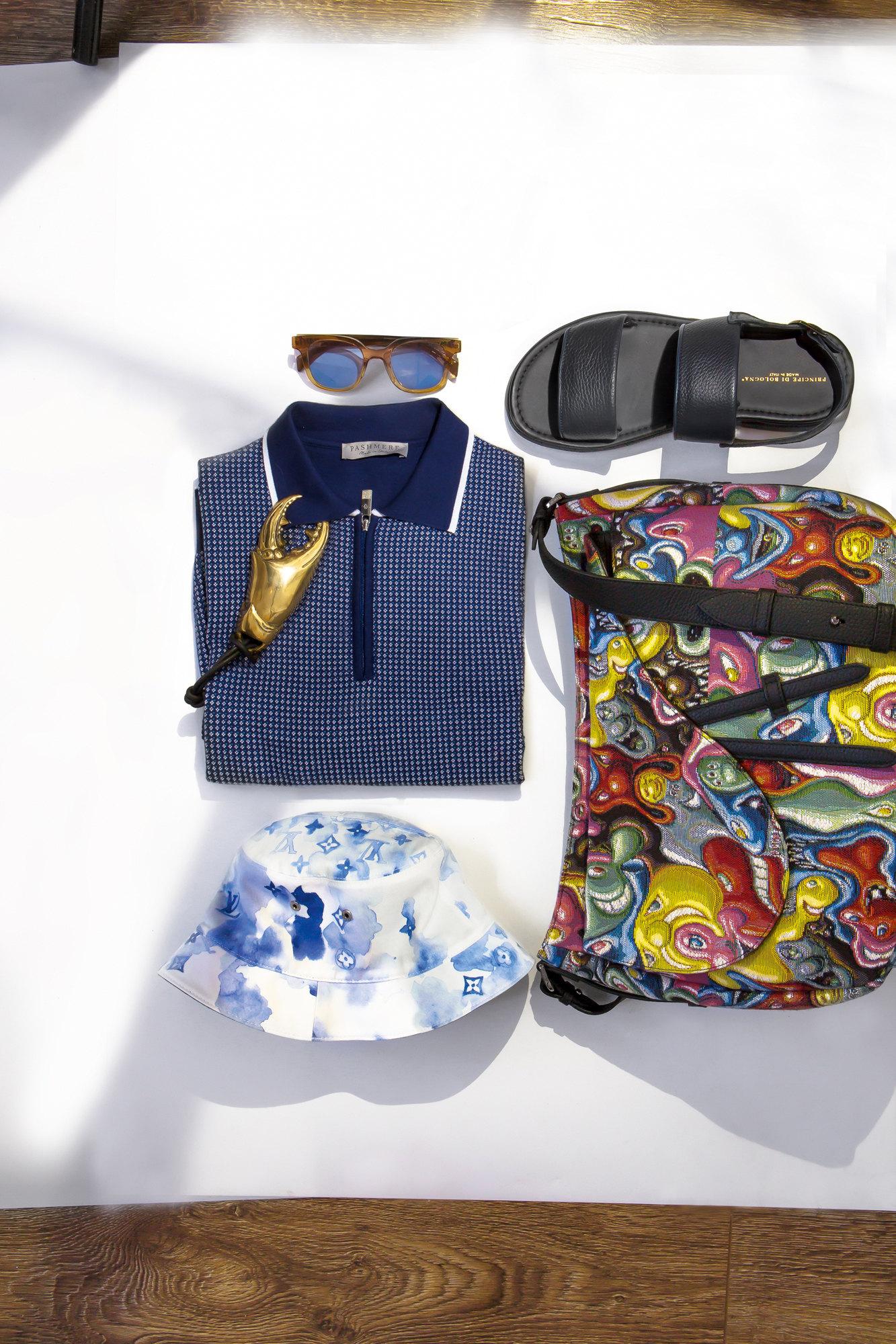 Открывалка Mr. Pinchy & Co Поло PashmereОчки Levi's Сандалии Principe di Bologna Сумка Dior MenПанама Louis Vuitton