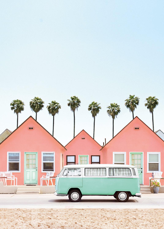 Дома напляже вКалифорнии, США