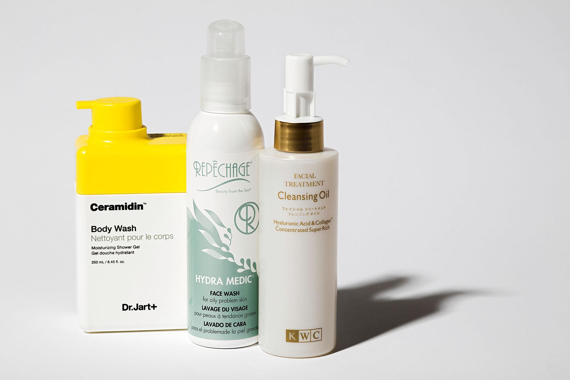 Мягкий гель длядуша Ceramidin, Dr.Jart+  Гель дляжирной кожи Hydra Medic, Repechage Масло дляумывания Cleansing Oil, KWC
