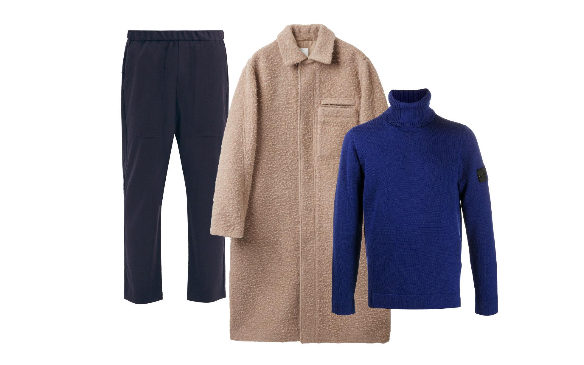 Пальто COS, $350; водолазка Stone Island Shadow Project, 28 237 руб.; брюки Barena Venezia, €242