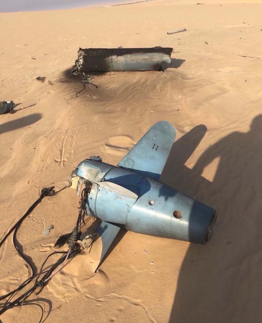 Обломки крылатой ракеты Quds-1, найденные наместе происшествия.