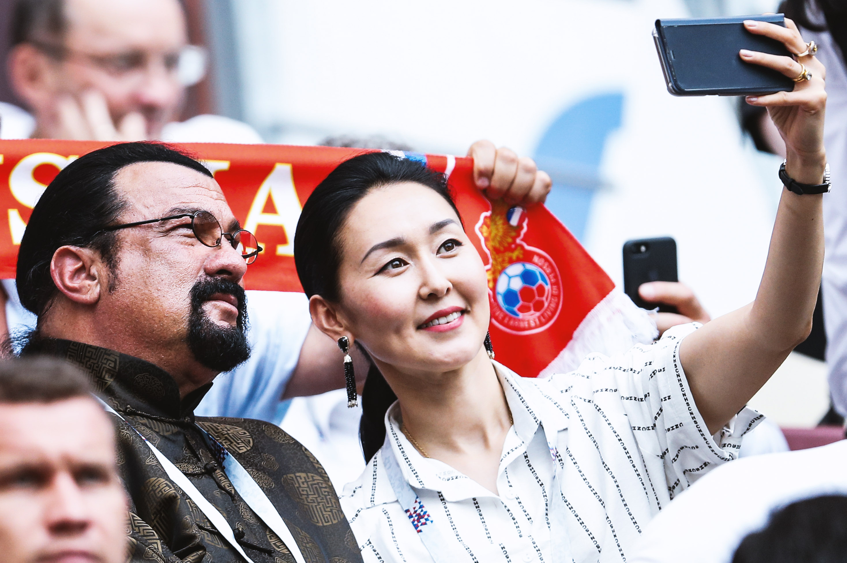 Актер Стивен Сигал иего супруга Эрденетуя Батсух
