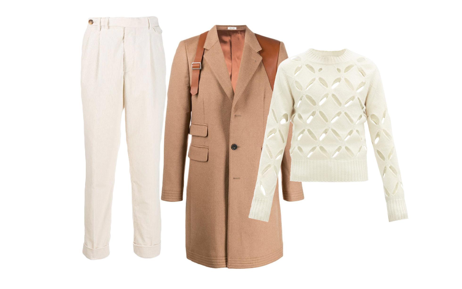 Пальто Alexander McQueen, 293 200 руб.; свитер Stefan Cooke, €639; брюки Brunello Cucinelli 64 000 руб.