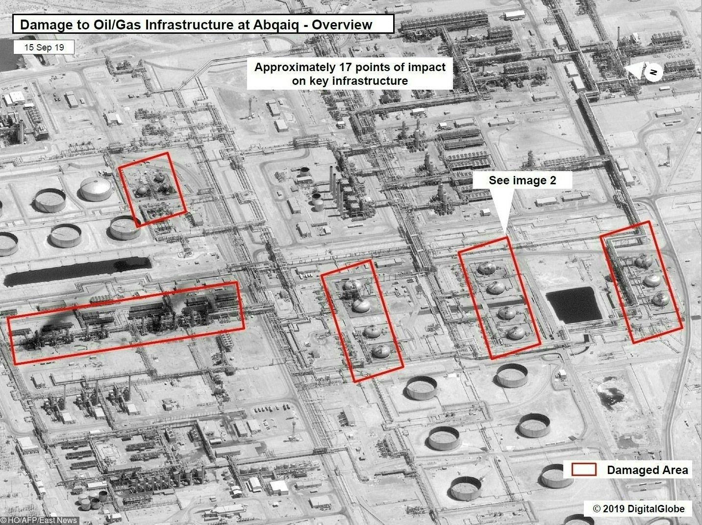 Последствия атаки нанефтяные объекты вАбкайке