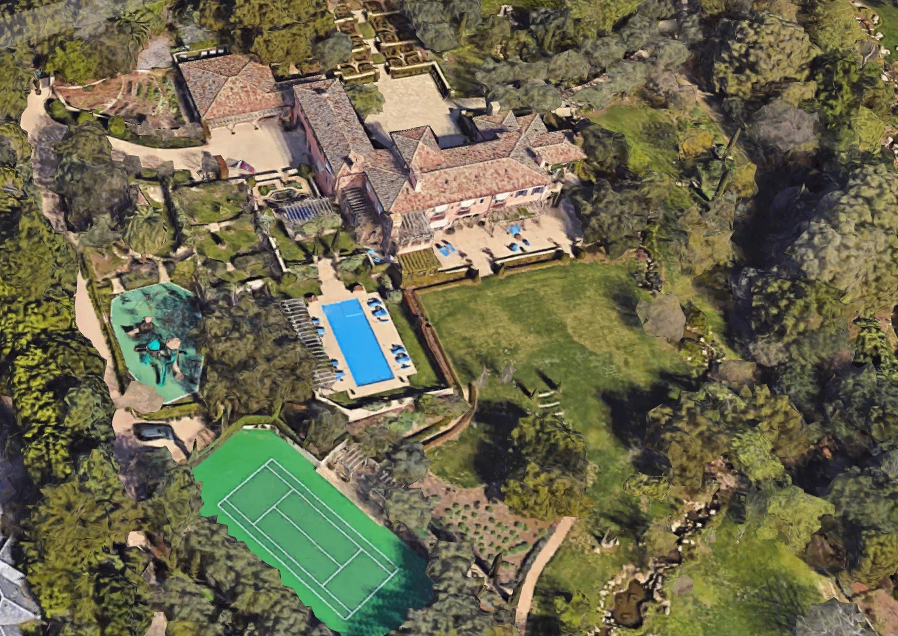 Google Map aerials of Prince Harry and Meghan Markle's new home in Montecito, CA