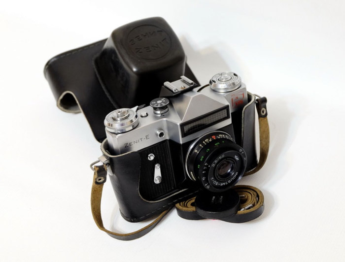 Фотоаппарат «Зенит Е»; коллекция Московского музея дизайна