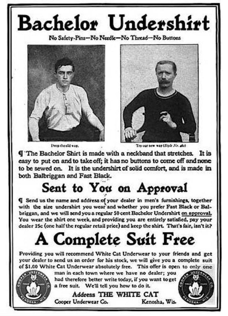 Та самая реклама Cooper Underwear Company