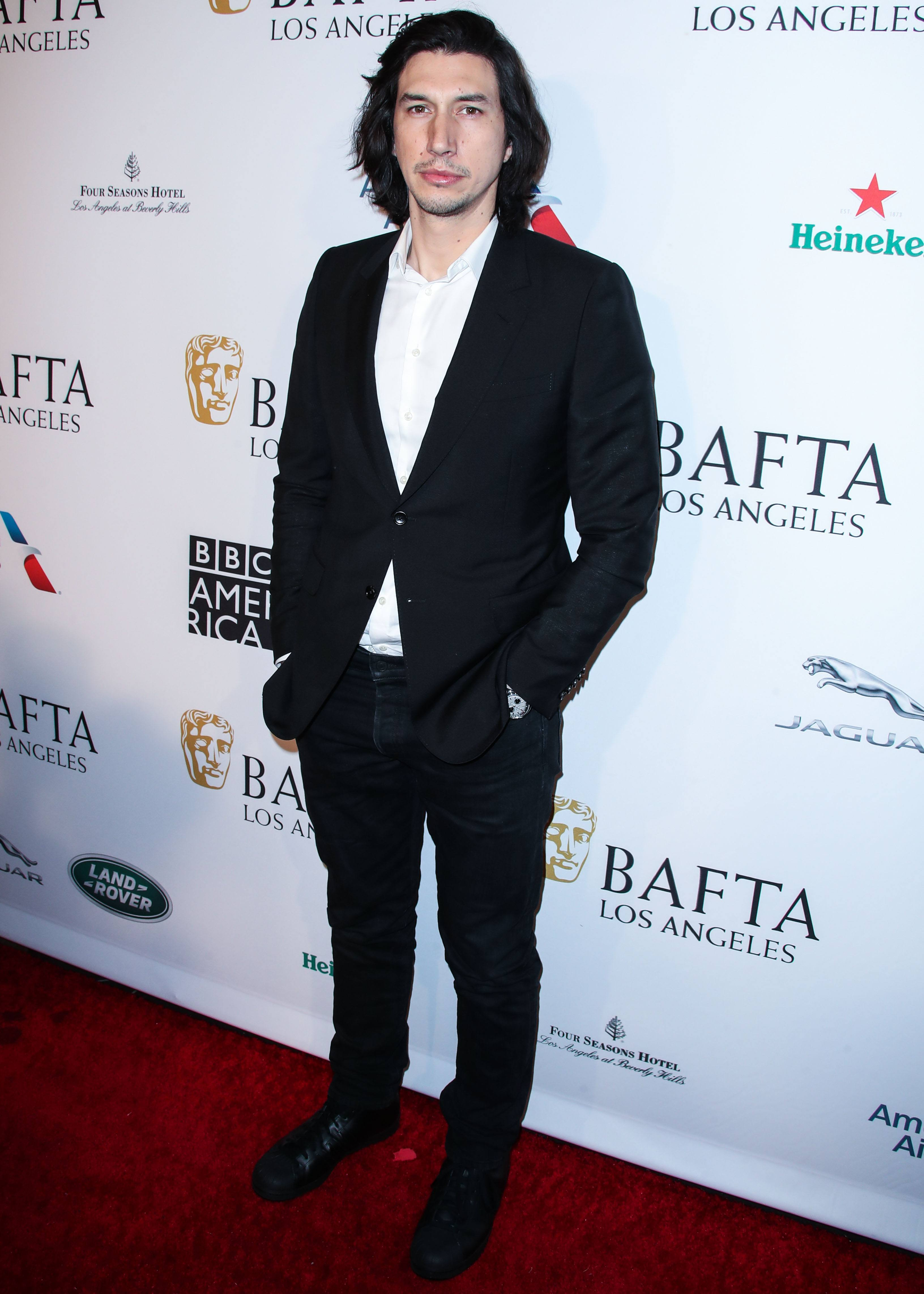 BEVERLY HILLS, LOS ANGELES, CA, USA - JANUARY 05: Actor Adam Driver Arrives At The BAFTA (British Academy Of Film And Television Arts) Los Angeles Tea Party 2019 Held At The Four Seasons Hotel Los Angeles At Beverly Hills On January 5, 2019 In Beverly Hills, Los Angeles, California, United States. КРЕДИТ