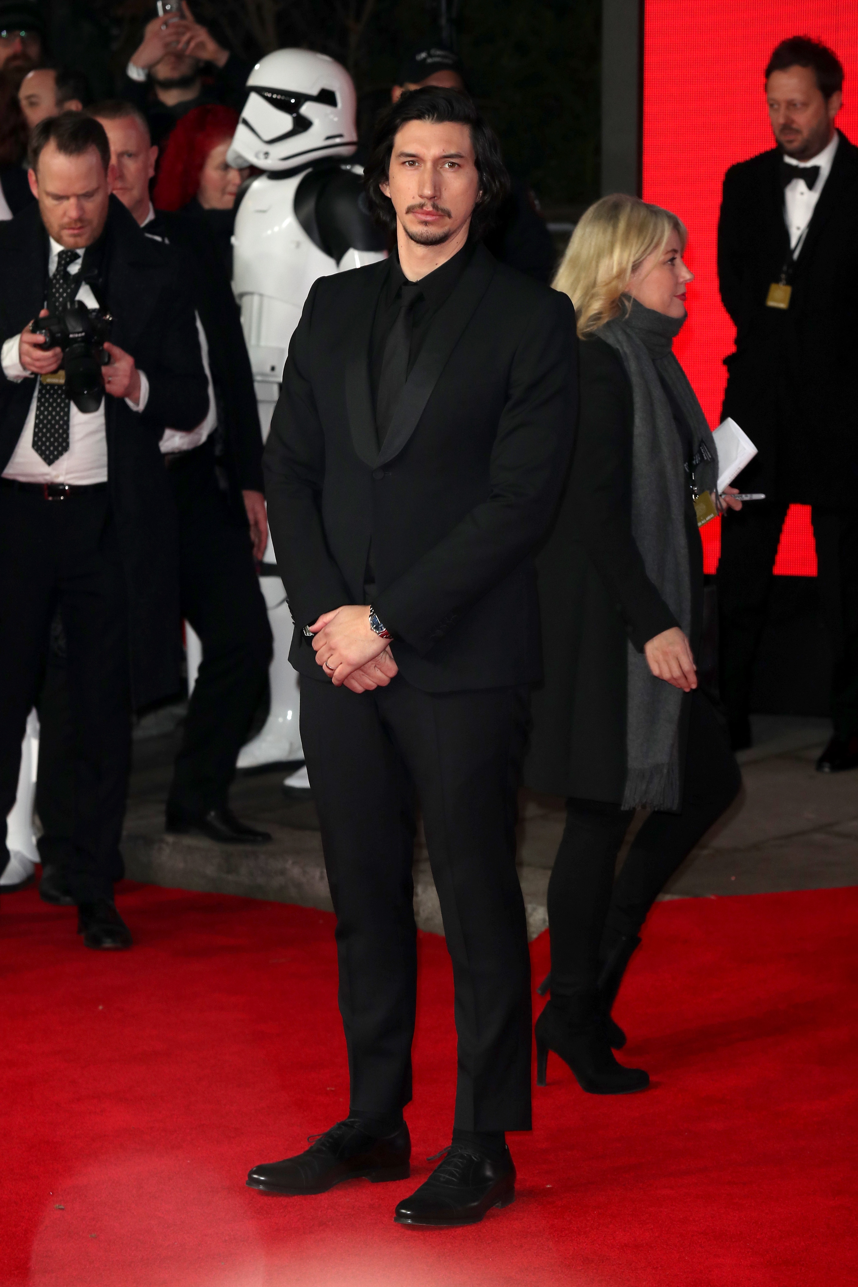 LONDON, ENGLAND - DECEMBER 12: Actor Adam Driver attends the European Premiere of 'Star Wars: The Last Jedi' at Royal Albert Hall on December 12, 2017 in London, England. (Photo by