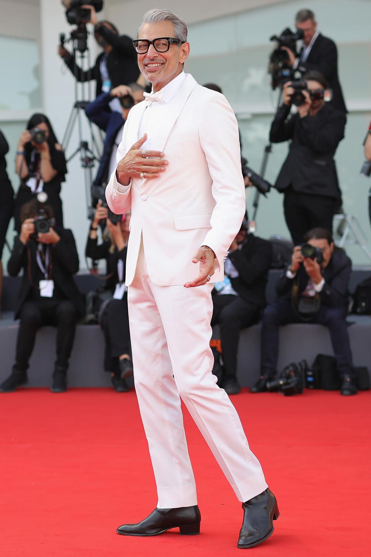 Джефф Голдблюм напремьере фильма The Mountain на75 Венецианском кинофестивале