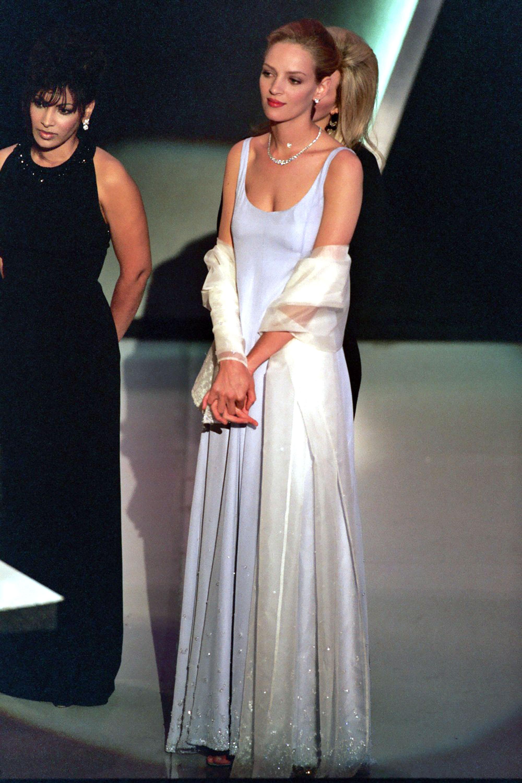 Ума Турман нацеремонии «Оскар» в1995 году