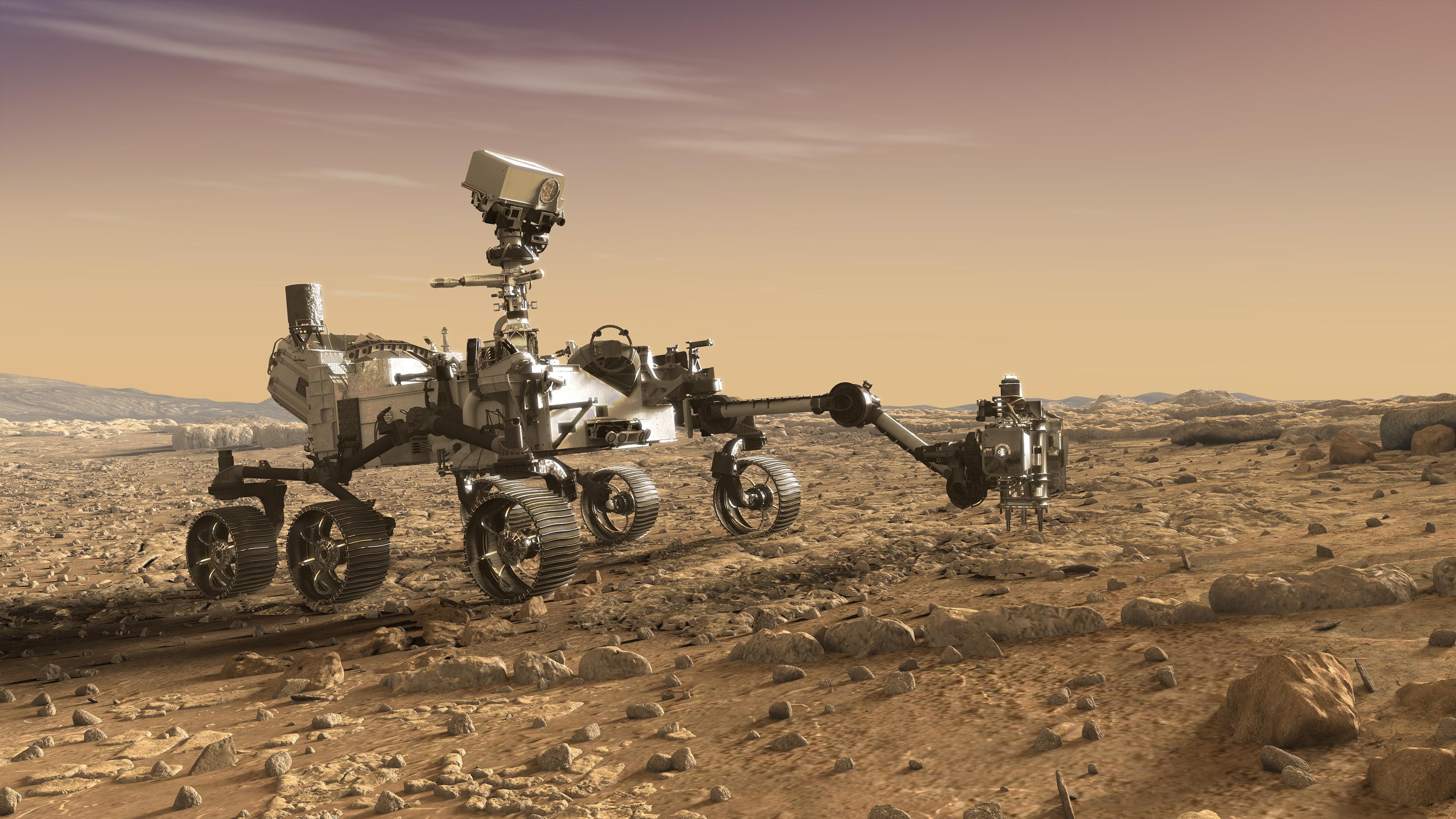 Справа наснимке видна роботизированная рука марсохода, сильно отличающая его отпредшественникоd
