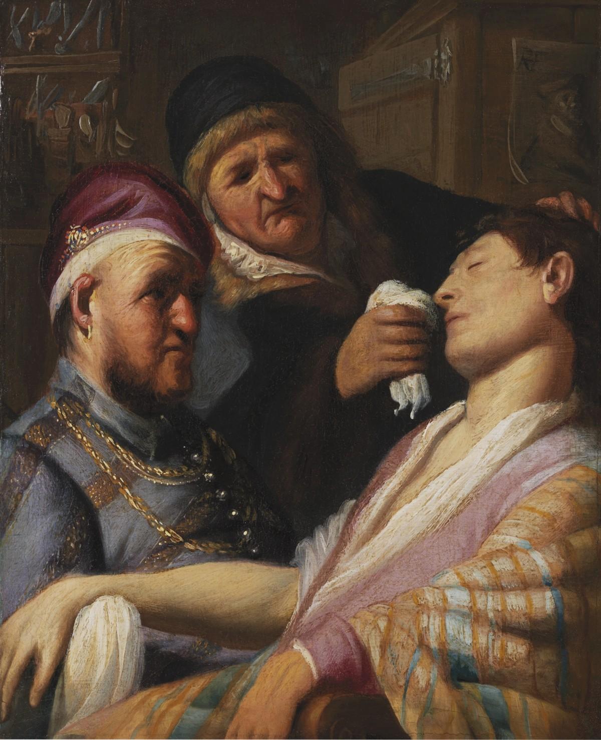 Рембрандт ван Рейн. Пациент безсознания (Обоняние)