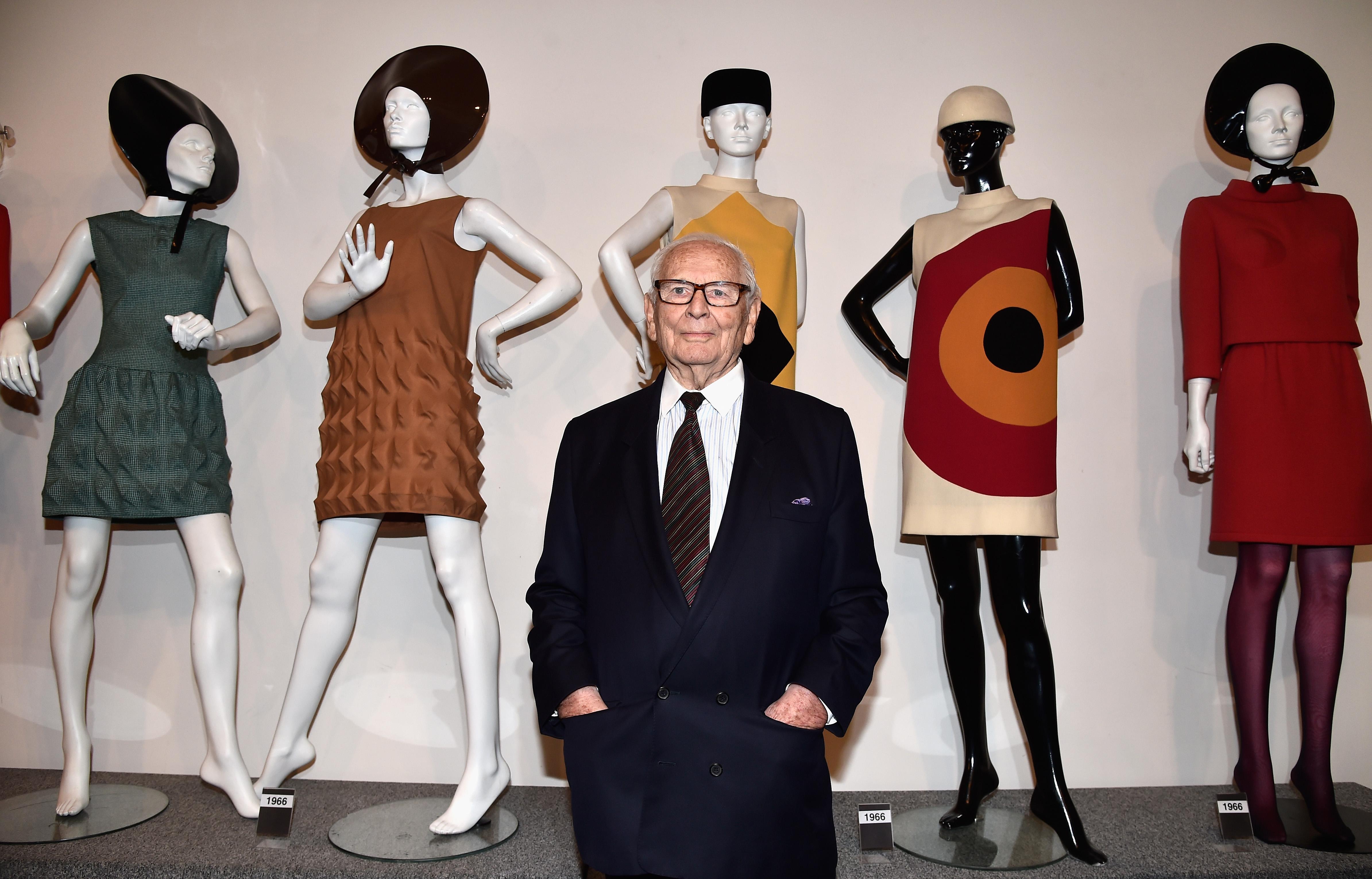 Пьер Карден наоткрытии своего именного музея вПариже, 2014