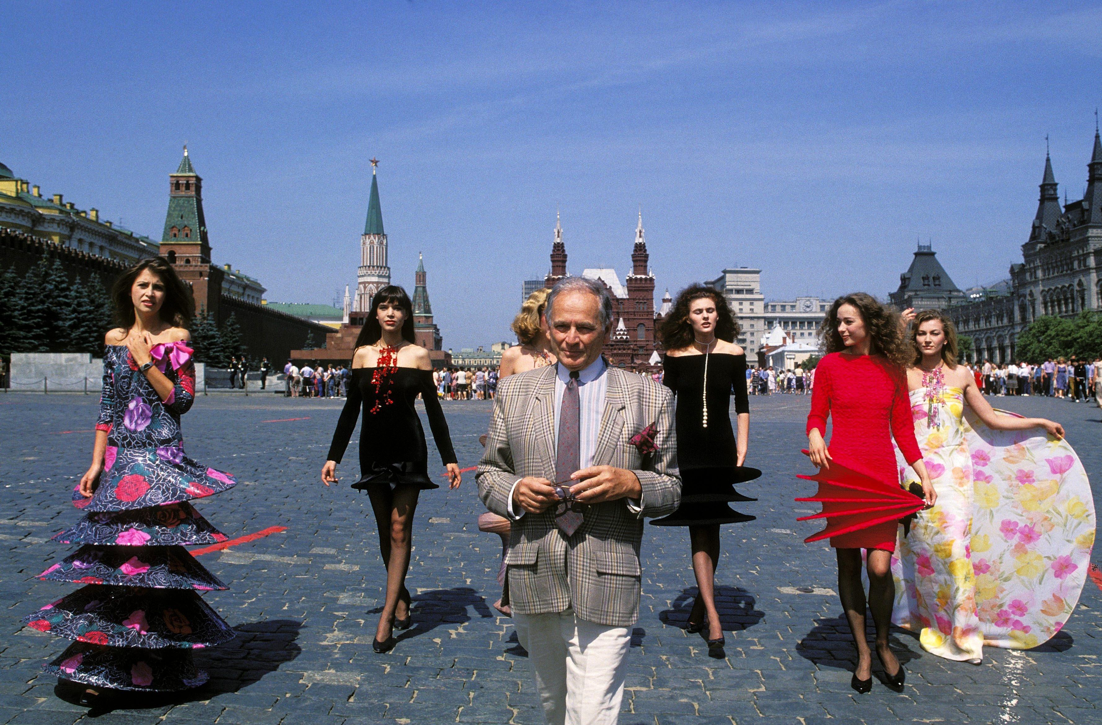 Пьер Карден наКрасной площади, 1986