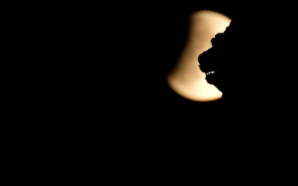 Частичное лунное затмение 2019 вфотографиях