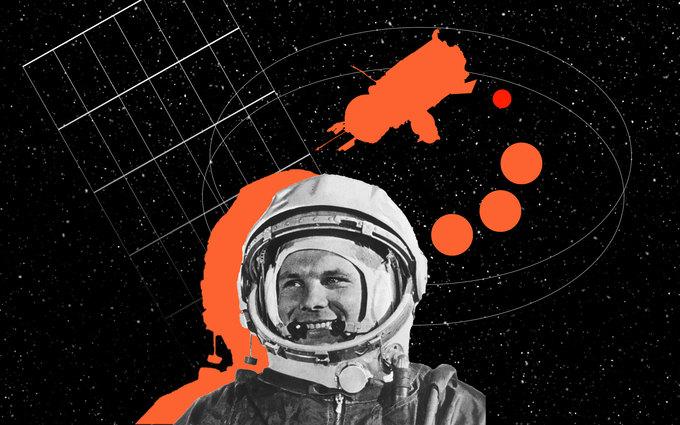 Спустя 108 (или 106 подругим источникам) минут полёта Юрий Гагарин приземлился напарашюте в…