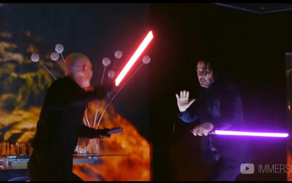 Видео дня: Джон Уик иего световой меч уничтожают врагов