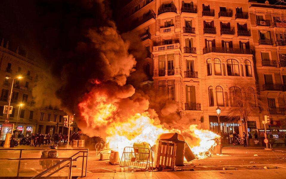 Протесты в Испании.