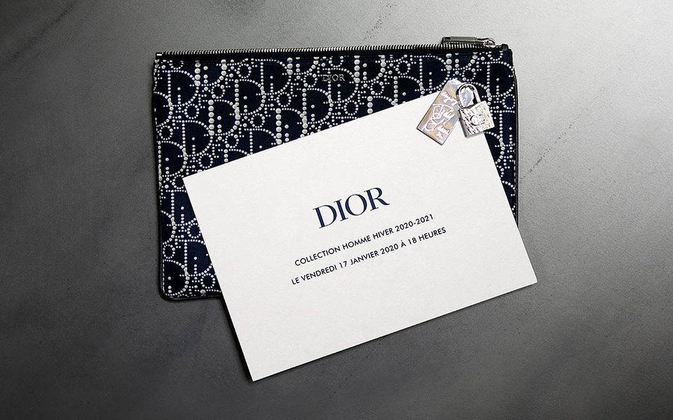 Прямая трансляция мужского показа Dior осень-зима 2020